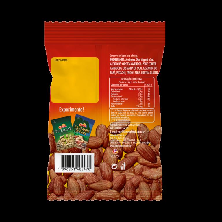 Amendoa 50g - verso