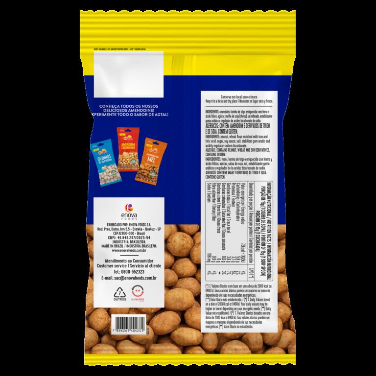 Amendoim Brasil 1,010kg - verso