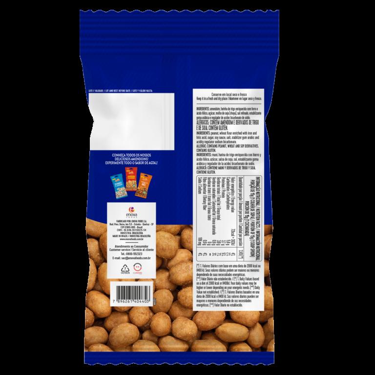 Amendoim Brasil 400g - verso