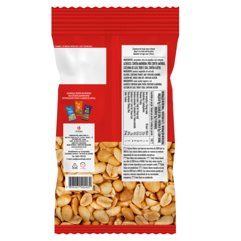 Amendoim Salgadinho 400g - verso