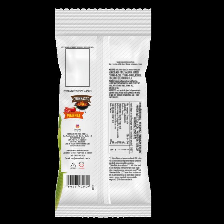 Milho Crocante Original 62g - verso