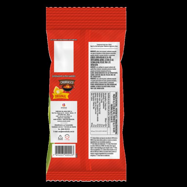 Milho Crocante Pimenta 62g - verso